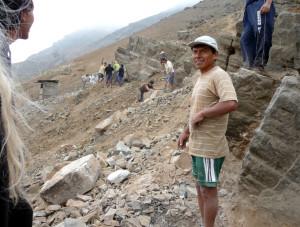 Wegwerkzaamheden in Lima. Foto: burospelen